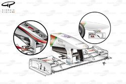 Force India VJM04 front wing, Turkish GP
