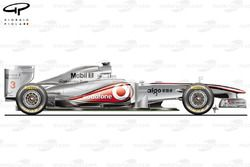 MP4-26 side view, launch car