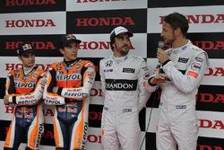 Dani Pedrosa, Marc Márquez, Fernando Alonso et Jenson Button