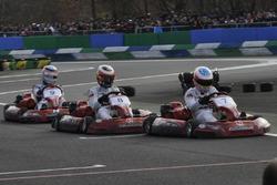 Fernando Alonso, Takuma Sato et Stoffel Vandoorne