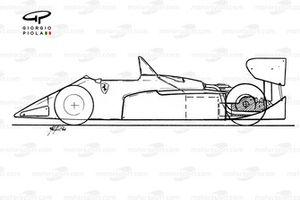 Ferrari 126C4 1984 schematic overview