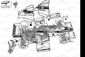 Williams FW10 1985 desmontado en partes