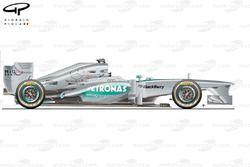 Mercedes W04 side view, Brazilian GP