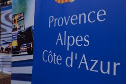 French GP press conference signage