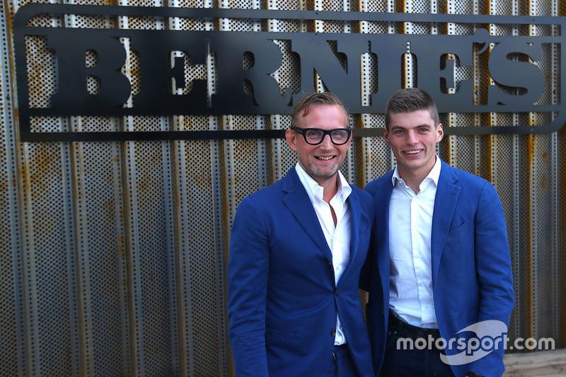 Bernhard van Oranje, co-owner Circuit Zandvoort, with Max Verstappen, Red Bull Racing, in front of a
