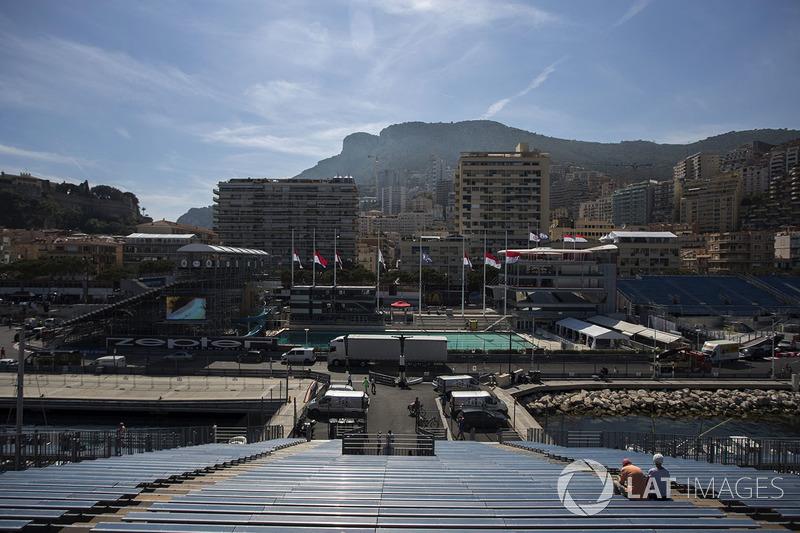 Blick von einer Tribüne in Monaco