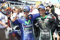 Kazanan Maverick Viñales, Yamaha Factory Racing, ikinci sıra Johann Zarco, Monster Yamaha Tech 3