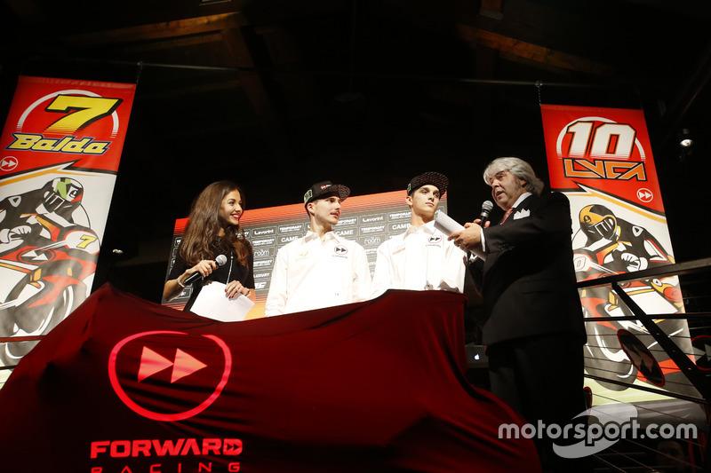 Giovanni Cuzari with con Marini, Lorenzo Baldassarri, Forward Racing
