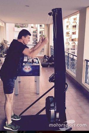 Max Verstappen entrenando
