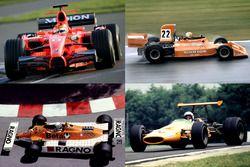 橙色涂装F1赛车