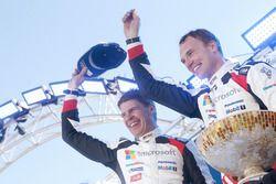 I vincitori Jari-Matti Latvala, Miikka Anttila, Toyota Yaris WRC, Toyota Racing