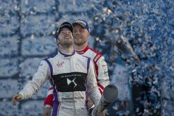 Podium : le 2e Sam Bird, DS Virgin Racing, le 3e Felix Rosenqvist, Mahindra Racing