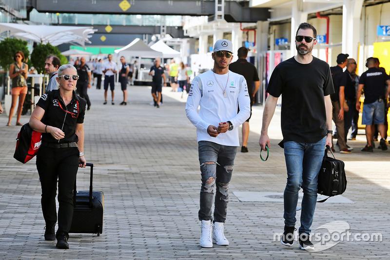 Lewis Hamilton, Mercedes AMG F1 with Marc Hynes