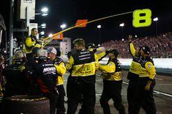 John Hunter Nemechek, SWM-NEMCO Motorsports Chevrolet celebran