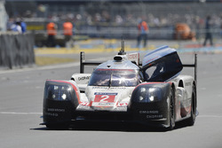 #2 Porsche Team Porsche 919 Hybrid: Timo Bernhard, Earl Bamber, Brendon Hartley after winning