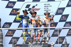 Podium: race winner Marc Marquez, Repsol Honda Team, second place Valentino Rossi, Yamaha Factory Ra