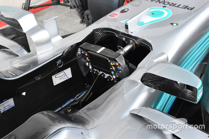 Mercedes AMG F1 F1 W08 cockpit detail