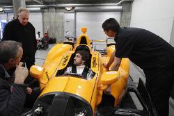 Fernando Alonso, Andretti Autosport Honda nella sua monoposto