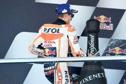 Podium: tweede plaats Marc Marquez, Repsol Honda Team