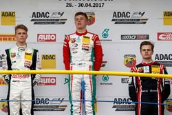 Podium: Sieger Jüri Vips, Prema Powerteam; second place Nicklas Nielsen, US Racing; third place Jonathan Aberdein, Motopark