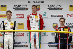 Podium: Sieger Jüri Vips, Prema Powerteam; second place Nicklas Nielsen, US Racing; third place Jonathan Aberdein, Motopark