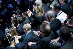 La folla durante l'evento Audi