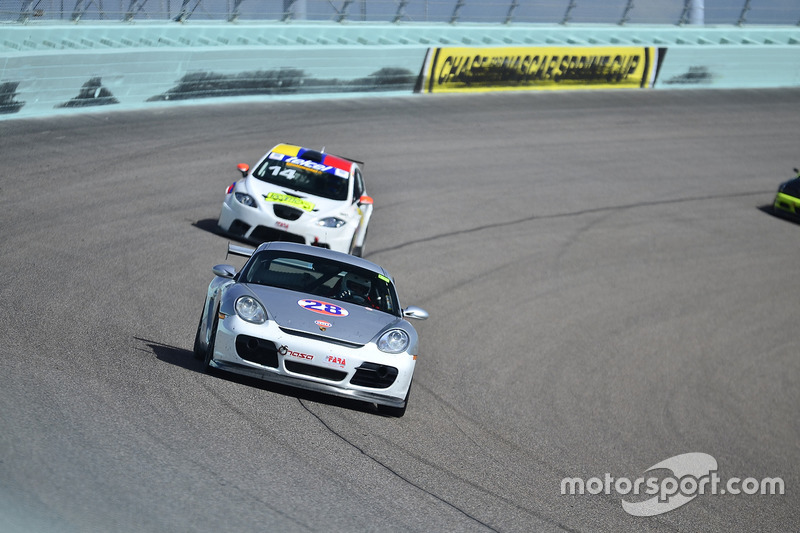 #28 MP2B Porsche Cayman driven by Ira Rosner & Drew Altman of RA Racing