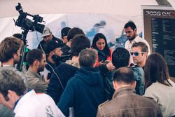 Sebastien Loeb, Peugeot Sport with the media
