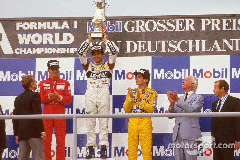 Podyum: 1. Nelson Piquet, Williams, 2. Stefan Johansson, McLaren, 3. Ayrton Senna, Team Lotus