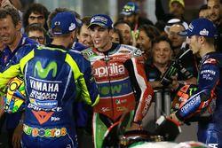 Race winner Maverick Viñales, Yamaha Factory Racing, third place Valentino Rossi, Yamaha Factory Rac