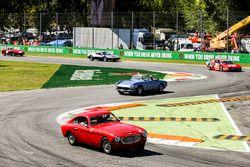 Classic Ferraris in the parade
