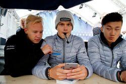 Nikita Mazepin, Hitech Grand Prix, Dallara F317 - Mercedes-Benz, Ralf Aron, Hitech Grand Prix, Dalla