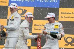 Podium: vainqueur Lucas Auer, Mercedes-AMG Team HWA, Mercedes-AMG C63 DTM, deuxième place Paul Di Resta, Mercedes-AMG Team HWA, Mercedes-AMG C63 DTM, troisième place Robert Wickens, Mercedes-AMG Team HWA, Mercedes-AMG C63 DTM
