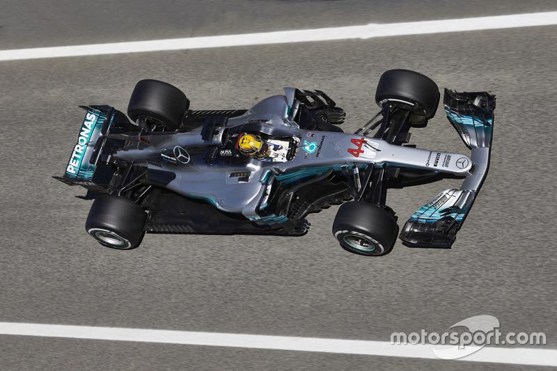 Mercedes F1 W08, вид сверху