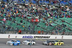 Johnny Sauter, GMS Racing Chevrolet, Ryan Truex, Hattori Racing Enterprises Toyota, Kyle Busch, Kyle