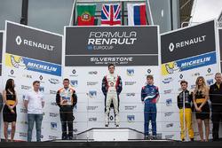 Podyum: Yarış galibi Will Palmer, R-ace GP, second place Henrique Chaves, AVF by Adrian Valles, thir