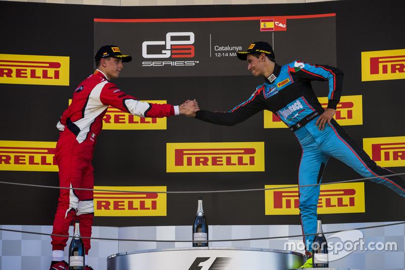 Podium: second place Leonardo Pulcini, Arden International, third place Alessio Lorandi, Jenzer Moto
