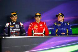 Charles Leclerc, PREMA Powerteam Luca Ghiotto, RUSSIAN TIME en Oliver Rowland, DAMS