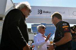 Flavio Briatore, Bernie Ecclestone, Christian Horner, Red Bull Racing Team Principal