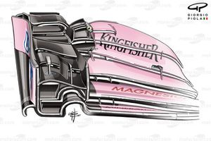 Force India VJM10: Frontflügel, GP Kanada