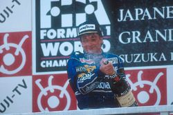Podium: winner Riccardo Patrese, Williams