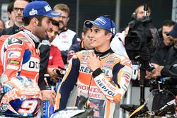 Second place Danilo Petrucci, Pramac Racing, Marc Marquez, Repsol Honda Team