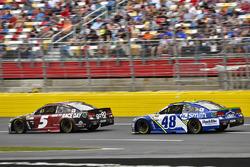 Kasey Kahne, Hendrick Motorsports Chevrolet and Jimmie Johnson, Hendrick Motorsports Chevrolet