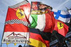 Michael Schumacher, flags