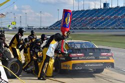 Brendan Gaughan, Richard Childress Racing Chevrolet makes a pit stop