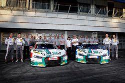 #1 Montaplast by Land-Motorsport, Audi R8 LMS: Connor De Phillippi, Christopher Mies und #2 Montapla