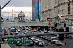 Las Vegas street scene and atmosphere