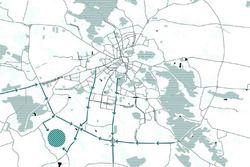 La ubicación de la pista en Lviv