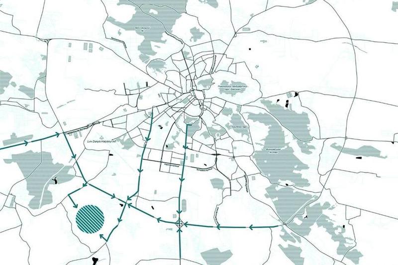 Расположение трассы во Львове