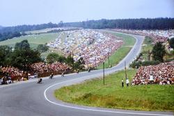 Rennaction am Sachsenring 1971